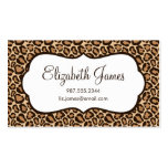 Girly Leopard Print Pack Of Standard Business Cards