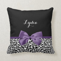 Leopard Print Ribbon Cushion
