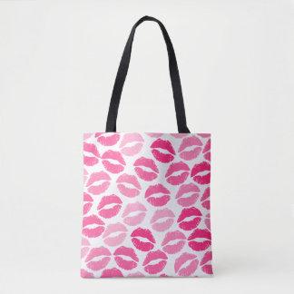 Girly lipstick tote bag