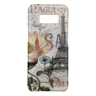 girly lotus flower vintage paris eiffel tower Case-Mate samsung galaxy s8 case