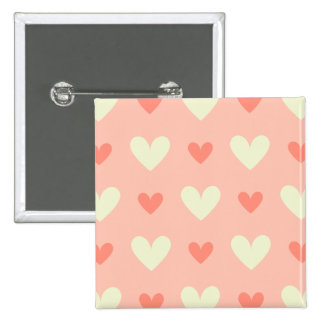 Girly Love Hearts - Elegant and Chic Pattern 2 Inch Square Button