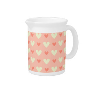 Girly Love Hearts - Elegant and Chic Pattern Beverage Pitchers