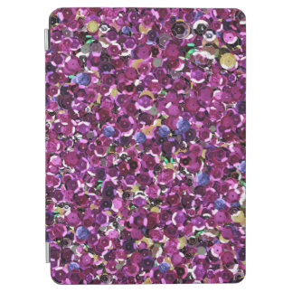 Girly Magenta Pink Faux Sequins iPad Pro Cover