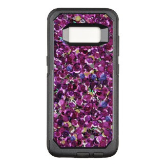 Girly Magenta Pink Faux Sequins OtterBox Commuter Samsung Galaxy S8 Case