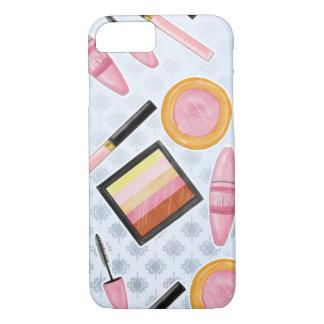 Girly Make Up Products Fashion Illustration iPhone 8/7 Case