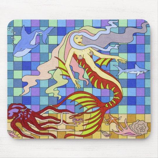 girly  mermaid mouse pad