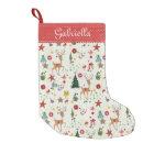 Girly Merry Christmas Reindeer |Christmas Stocking