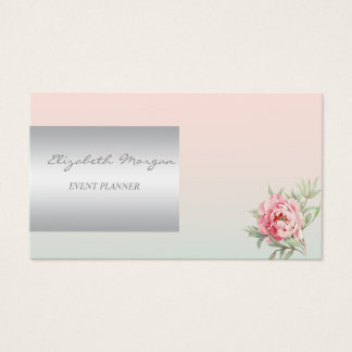 Girly Modern  Charming,Flower Business Card