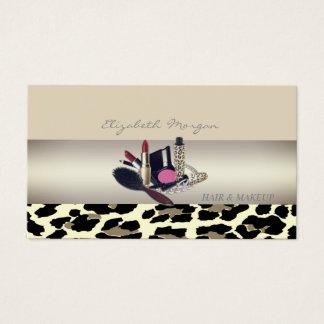 Girly Modern Charming,Leopard Print Business Card