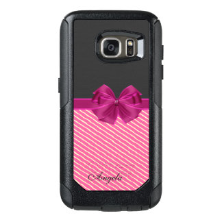 Girly Modern Chic Stripes-Personalized OtterBox Samsung Galaxy S7 Case