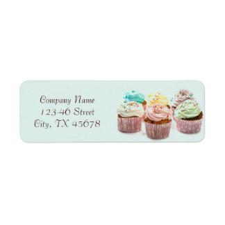girly modern elegant bakery colorful cupcake