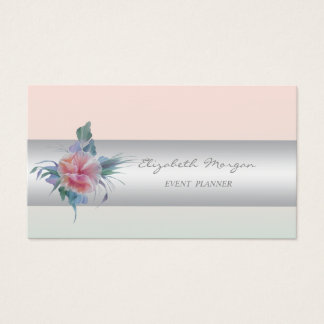 Girly Modern Professional Charming,Flower Business Card