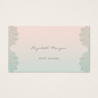 Girly Modern Professional Charming,Lace Business Card
