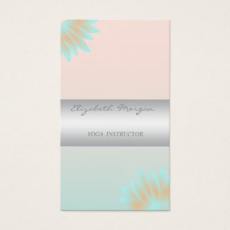 Girly Modern Professional Charming,Lotus Business Card