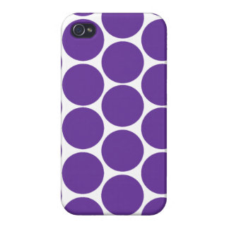 GIRLY MODERN PURPLE POLKA DOTS COVERS FOR iPhone 4