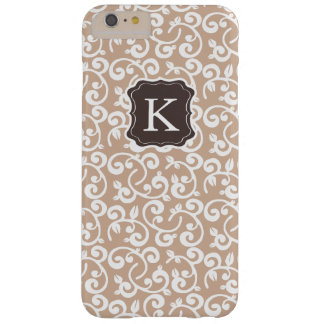 Girly Monogram Floral Pattern, Change the Color! Barely There iPhone 6 Plus Case