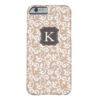 Girly Monogram Floral Pattern, Change the Color! Barely There iPhone 6 Case