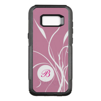 GIrly Monogram Name Initials OtterBox Commuter Samsung Galaxy S8+ Case