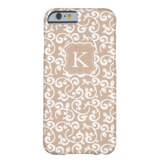 Girly Monogram Pastel Floral, Change the Color! Barely There iPhone 6 Case