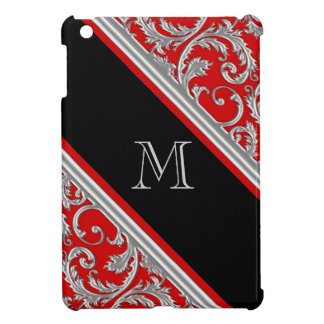Girly monogrammed floral pattern cover for the iPad mini