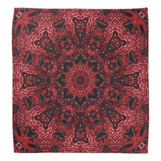 girly Moroccan Ethnic Pattern burgundy bohemian Bandana