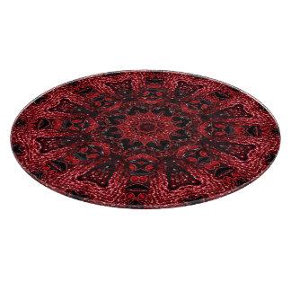 girly Moroccan Ethnic Pattern burgundy bohemian Cutting Board