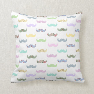 Girly mustache pattern cushion