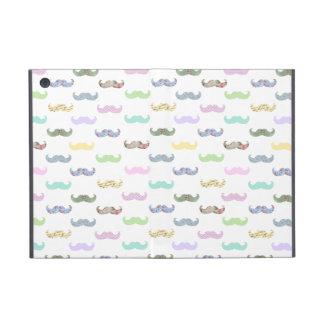 Girly mustache pattern iPad mini case