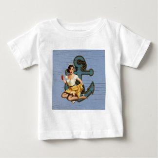 Girly nautical anchor vintage pin up girl t-shirts