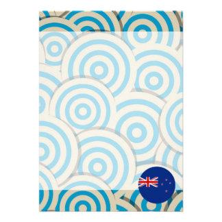 Girly New Zealander Flag Gift 13 Cm X 18 Cm Invitation Card