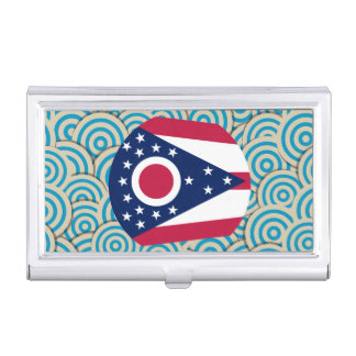 Girly Ohioan Flag Gift Business Card Holders