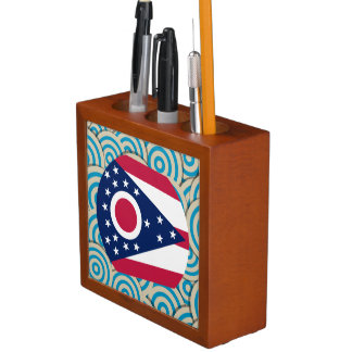 Girly Ohioan Flag Gift Pencil/Pen Holder