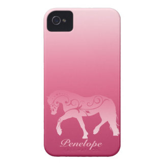 Girly Ombre Horse Silhouette iPhone 4 Case