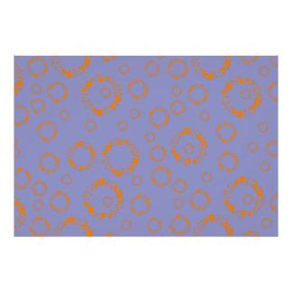 girly orange blue circle squares pattern dizzy art art photo