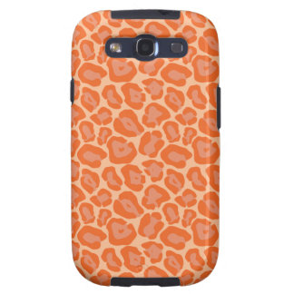 Girly Orange Leopard Pattern Galaxy S3 Cover