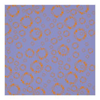 girly orange purple circle squares pattern dizzy photo