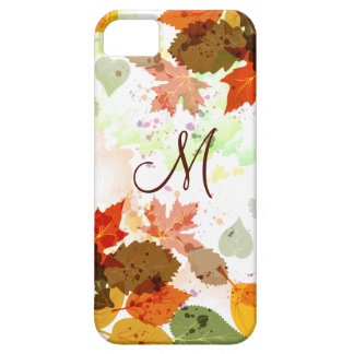 Girly Orange Yellow Green Autumn Leaves iPhone5 iPhone 5 Cover