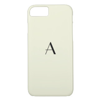 Girly Pastel Beige iPhone 7 Case w/ BlackMonogram