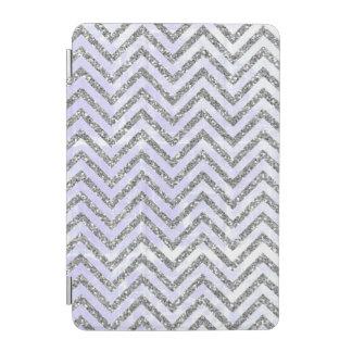 Girly Pastel Blue/Silver Chevron iPad Smart Cover