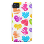 Girly pastel love hearts pattern iPhone 4 covers