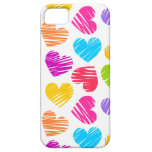 Girly pastel love hearts pattern iPhone 5 cover
