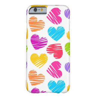 Girly pastel love hearts pattern iPhone 6 case