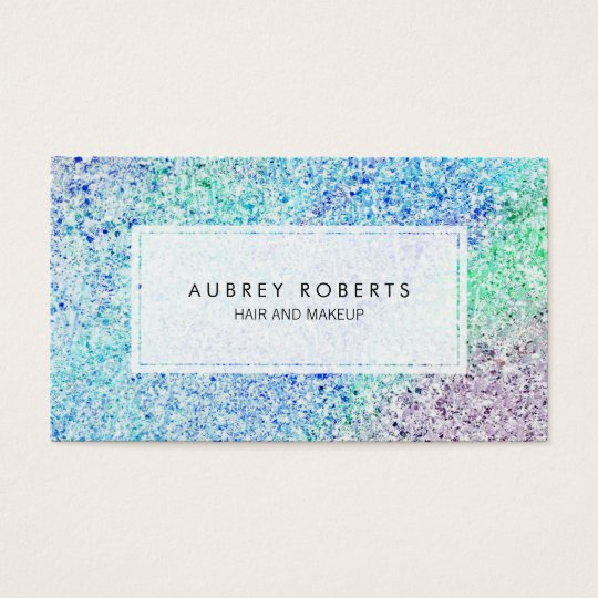 Girly Pastel Ombre Pattern Cosmetologist Business Card