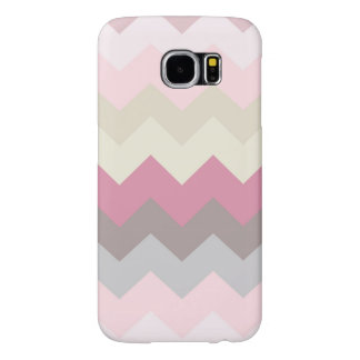 Girly Pastel Retro Pink Mint Green Chevron Pattern Samsung Galaxy S6 Cases