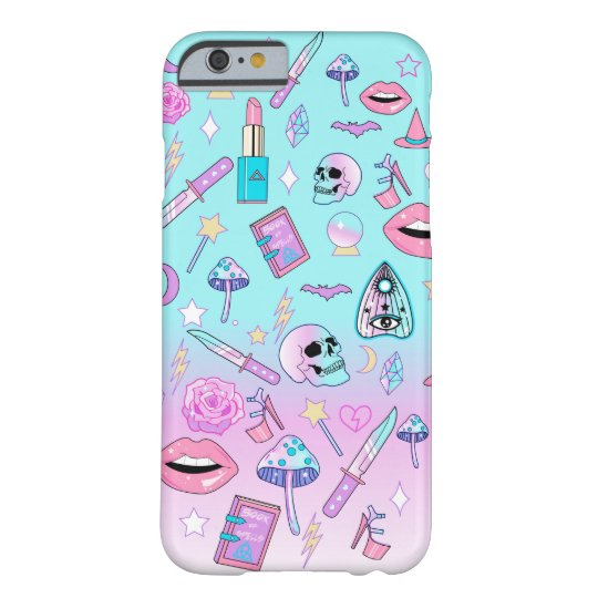 Girly Pastel Witch Goth Pattern Barely There iPhone