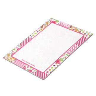 Girly Patchwork Inspired Personalized Notepad