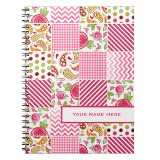 Girly Patchwork Personalized Notebook