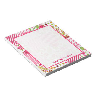 Girly Patchwork Personalized Notepad