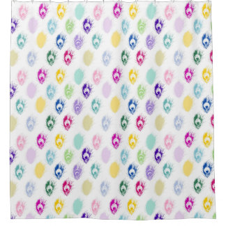 Girly Peacock feathers pattern Shower Curtain