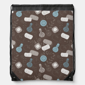 Girly Perfume/Parfume Bottles Drawstring Backpack